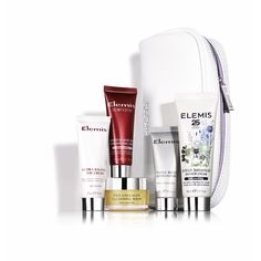 Gorgeous Elemis Gift Set available FREE when you purchase 2 Elemis products, 1 to be anti-ageing skincare