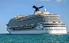 Download wallpapers cruise ship, Carnival Breeze, luxury liner, large passenger ship, Caribbean Sea, luxury ships