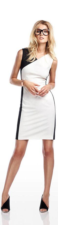 Toni Garrn. Black & White with a touch of Copper (bracelet) http://photoshootbloger.blogspot.com.au