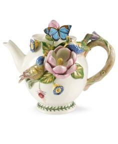 Birds, butterflies and flower Teapot