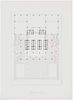 Seagram Building - Lobby Floor Plan -Mies van der Rohe