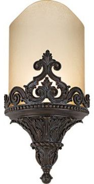 Metropolitan Aged Bronze ADA-Compliant Wall Sconce - Traditional - Wall Sconces - Fratantoni Lifestyles - very nice!