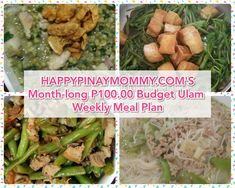 Month-long Weekly Filipino Budget Meal Plan Challenge – Happy Pinay Momm… – Famous Last Words Budget Weekly Meal Plan, One Week Meal Plan, Eat On A Budget, Monthly Meal Planning, Budget Meal Planning, Meals For The Week, Weekly Menu, Gluten Free Meal Plan, Free Meal Plans