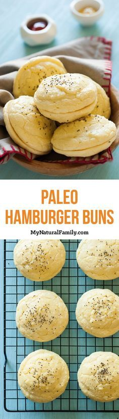Paleo Hamburger Buns Recipe. Perfect for your summer cook-out!