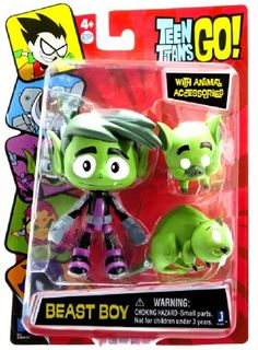 Beast Boy is Cyborg's best bud--a slightly dim but loveable loafer who transforms into all sorts of animals when he's not eating burritos and watching TV. - Comes with two animal accessories - High qu