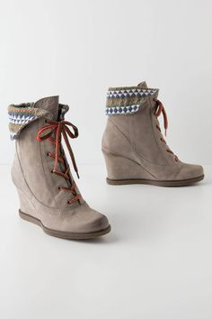 Textile Study Wedge Boots