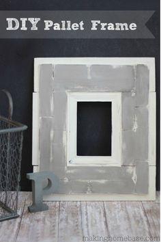 DIY Pallet Frame from Making Home Base #frame #decor #pallet #diy