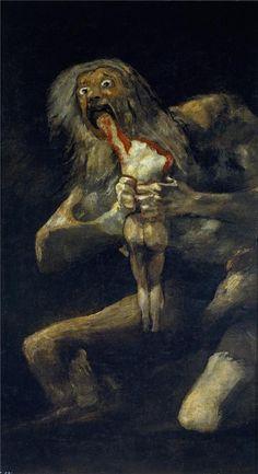 Saturn Devouring His Son - Francisco Goya  -  Gallery: Museo del Prado, Madrid, Spain