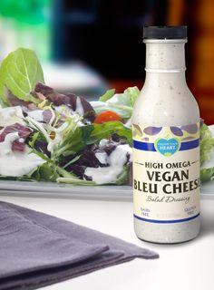 Vegan Blue Cheese Salad Dressing #bottle #label