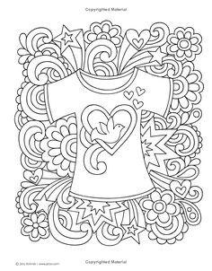 Notebook Doodles Go Girl Coloring Activity Book Jess Volinski