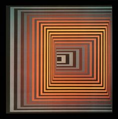 """""""Vonal – FEGN"""" by Victor Vasarely, 1968"""
