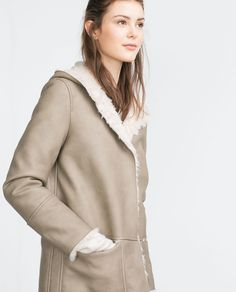 COAT WITH FAUX FUR INTERIOR-Coats-Outerwear-WOMAN | ZARA United States