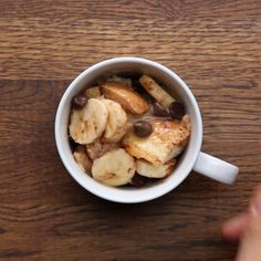 Featuring Bacon And Cheese In A Mug, Banana Chocolate In A Mug, Blueberry French Toast In A Mug and Veggie And Cheese Breakfast In A Mug Chocolate French Toast, Blueberry French Toast, Chocolate Mug Cakes, Chocolate Syrup, Chocolate Chips, Breakfast In A Mug, How To Make Breakfast, Mug Recipes, Dessert Recipes