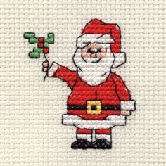 Hobbycraft Mini Christmas Cross Stitch Kit Santa | Hobbycraft