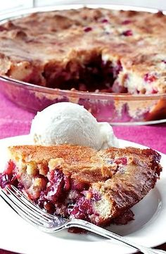 Recipe: Ina Garten's Easy Cranberry and Apple Cake (baked in a pie plate) - Recipelink.com
