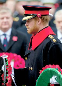 "theroyalsandi: ""  Prince Harry attend the annual Remembrance Sunday Service at the Cenotaph on Whitehall on November 8, 2015 """