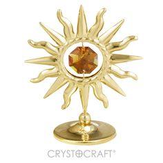 Mini sol banhado a ouro 24K com cristais SWAROVSKI