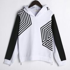 Hooded loose hood Casual Unisex Kpop GOT7 Exo Hoodie cobweb printed T Female BTS Exo side zipper Lunhan street Sudaderas