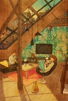 Corea artista puuung1 ilustraciones cálidas | inspiración diaria