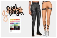 Sims 4 CC's - The Best: Coral Fang Pants in 22 Colors by Pyanka