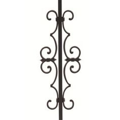 Gilpin Summit Black Aluminum Deck Rail Centerpiece at Lowe's. Aluminum Estate scrolls to be used in conjunction with Summit aluminum railing panels or gates. Scroll accessories are ordered in conjunction with panels Aluminum Decking, Aluminum Metal, Porch Ornaments, Ranch Fencing, Steel Gate Design, Types Of Fences, Diy Fence, Metal Fence, Deck Railings