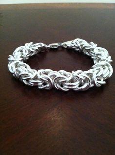 Sterling Silver 8 inch Byzantine Bracelet. $175