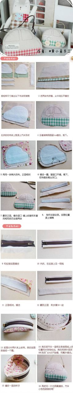 DIY Cute Car Style Bag