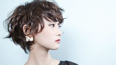 HAIR CATALOG.JP Funky Bob Hairstyles, Short Bob Hairstyles, Hairstyles Haircuts, Short Curly Hair, Short Hair Cuts, Curly Hair Styles, Natural Hair Styles, Pelo Guay, Mint Hair