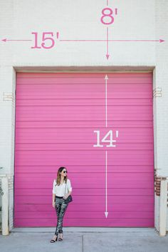 Jennifer Lake Style Charade in Express sequin leggings, ivory lace top, and a quilted Chanel flap bag in front of a Chicago pink wall