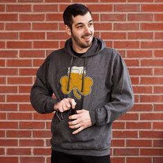 Shamrock on tap Tailgater Hoodie - comes with a bottle opener and koozie!