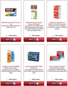Free Printable Coupons for Benylin, Tylenol, Reactine, Imodium, Listerine, Pepcid, Nicorette Products at LivingWell.ca – Canada