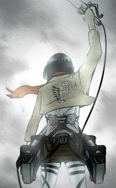 Mikasa Ackerman #1 Levi Mikasa, Armin, Rivamika, Attack On Titan Anime, Animes Wallpapers, Tokyo Ghoul, League Of Legends, Anime Characters, Anime Art