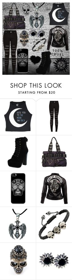 """""""Hate you to the moon and back"""" by frizzynorse ❤ liked on Polyvore featuring Chelsea Crew, SOA, Alexander McQueen and David Yurman"""