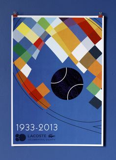 Lacoste Poster. 80th Birthday. The Visual Work of Mike Lemanski. #design #graphicdesign #poster #posterdesign