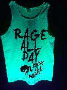 ZeroGravitee Black Adult-ISH Neon Tank Top
