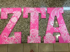 Sorority wooden letters ZTA                                                                                                                                                                                 More