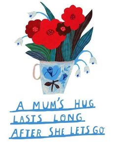 illustration, lettering, type, flowers, greeting card, hug, quote