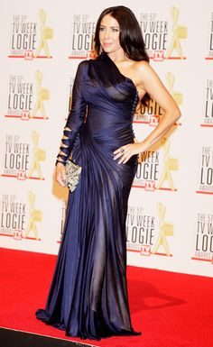 Actress Kate Ritchie at 2009 Australian Logies in J'Aton Couture J Aton Couture, Blue Dresses, Formal Dresses, Home And Away, Couture Dresses, Silk Satin, Glamour, Magic, Events