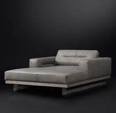 """Durrell Leather Chaise 52½""""W x 75""""D x 27¼""""H  May be too large for master bedroom"""