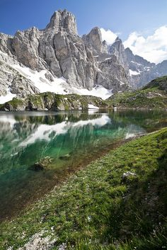 Lago di Coldai and Monte Civetta, Dolomites, Italy (by johnny XXIII)