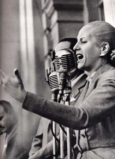 "Eva Peron, the Former First Lady of Argentina...""Don't Cry For Me, Argentina"", Indeed!!  Peron Followed Her Husband As the First Female President of a Latin American Country...Gaining the Love of the Masses Along the Way...Her Story Has Been Retold In Print and the Oscar-Nominated Film, ""Evita""...What An Influence...What A Step For Women Everywhere!!"