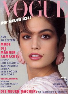 Cindy Crawford Vogue Deutsch February 1987