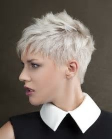 Image result for very women with short haircuts for round faces Spiky