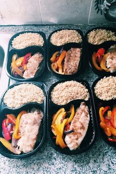 7 Healthy Meal Prep Ideas You Won't Get Bored Of: Breaded Tilapia Fillets With Peppers and Quinoa. For more ideas, click the picture or visit www.sofeminine.co.uk