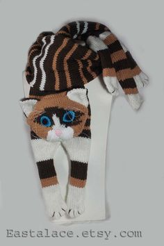 Cat Scarf Pattern PDF file Knitting a Cat Scarf by Eastalace