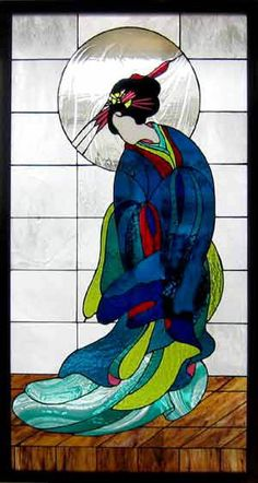 Geisha stained glass