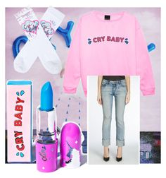 """""""Melanie Martinez"""" by lyricsims ❤ liked on Polyvore featuring beauty, Lime Crime, UNIF and BLANKNYC"""