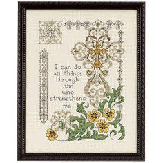 Strengthen Me - Cross Stitch, Needlepoint, Stitchery, and Embroidery Kits, Projects, and Needlecraft Tools | Stitchery