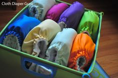 Cloth Diaper Guru - Great ideas for storing cloth diapers!