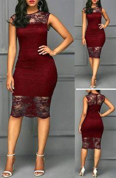 f8b573669c 66 melhores imagens de Vestidos de renda vermelha